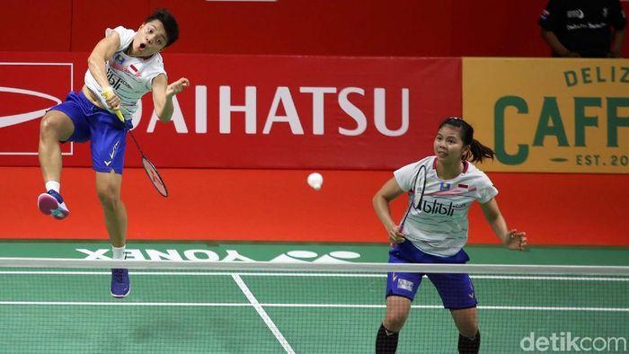 Greysia Polii mendukung Apriyani Rahayu bermain rangkap, juga di ganda campuran. (Agung Pambudhy/detikSport)