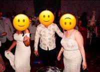Gaun kakak ipar (kanan) mirip pengantin wanita