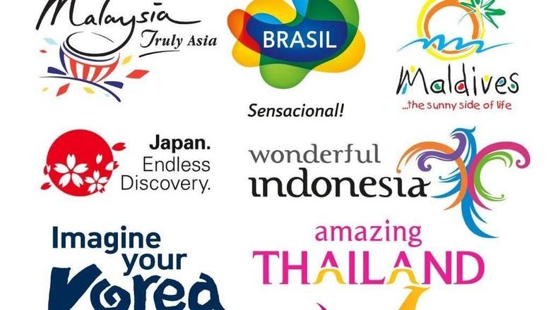 Kumpulan branding pariwisata sejumlah negara (istimewa)