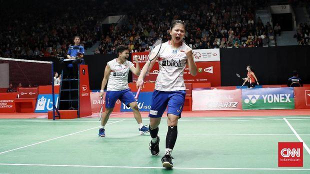 Apriyani/Greysia lolos ke babak perempat final Indonesia Masters 2020.