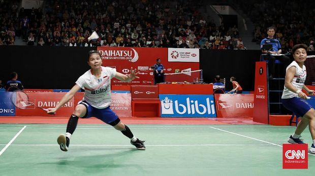 Greysia/Apriyani memastikan langkah ke final Indonesia Masters 2020. (