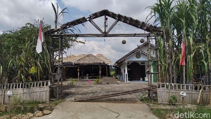 Rumah kontrakan Toto Santoso, Raja Keraton Agung Sejagat, di Godean, Sleman, DIY, Rabu (15/1/2020). (Usman Hadi/detikcom)