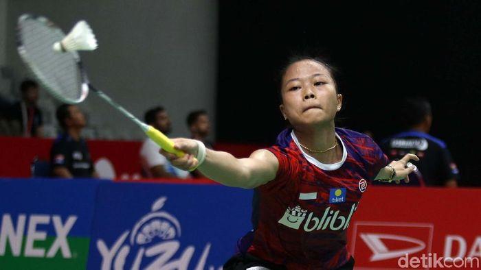 Fitriani langsung tumbang di babak pertama Daihatsu Indonesia Masters 2020. (Agung Pambudhy/detikSport)