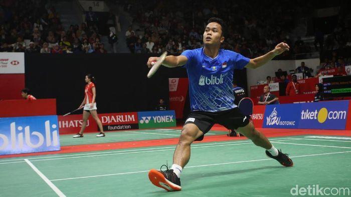 Anthony Ginting melaju ke babak kedua Daihatsu Indonesia Masters 2020 untuk menantang Tommy Sugiarto (Foto: Agung Pambudhy/detikSport)