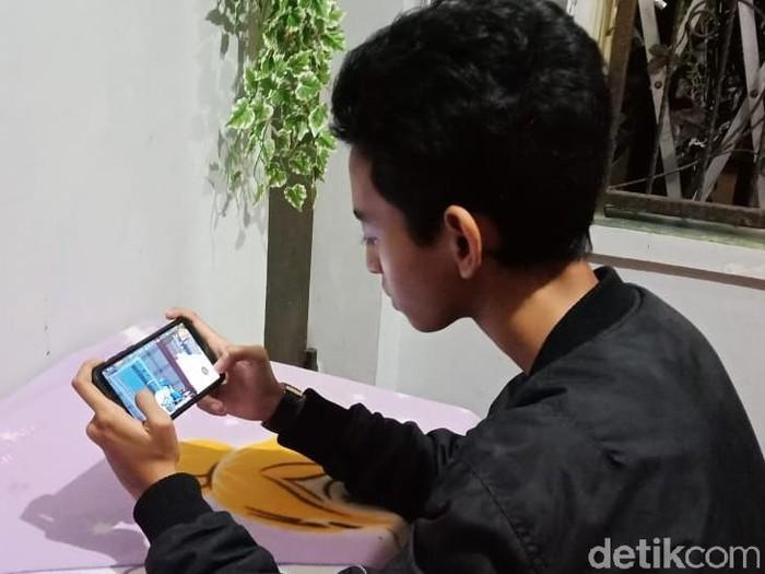 Anak kecanduan game online (Foto: Erliana Riady/detikcom)