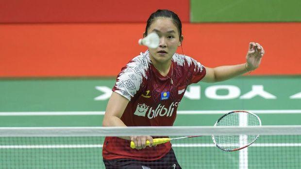 Aksi Ruseli Hartawan di Indonesia Masters 2020. (