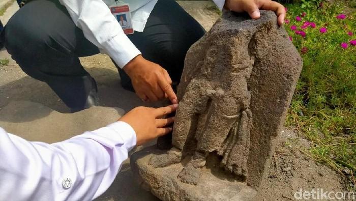Arca Mahakala yang ditemukan di Klaten. (Foto: Achmad Syauqi/detikcom)