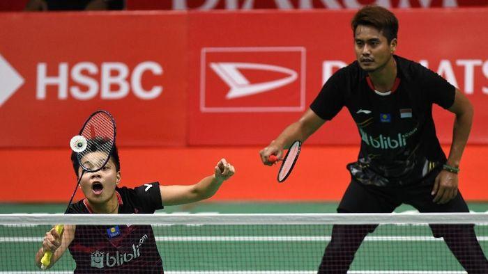 Tontowi Ahmad/Apriyani Rahayu kandas di babak 16 besar Indonesia Masters. (Foto: Aditya Pradana Putra / ANTARA FOTO)