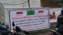Ketua GOIB Serahkan Spanduk Tolak Bioskop Dekat Masjid PGC ke Polisi