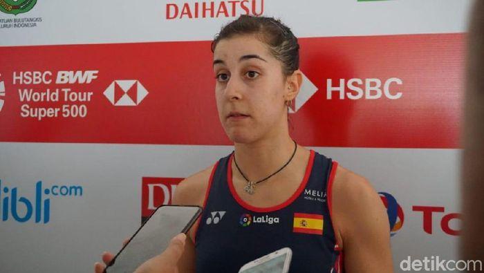 Carolina Marin bertekad menjuarai Daihatsu Indonesia Masters 2020. (Foto: Mercy Raya/detikSport)