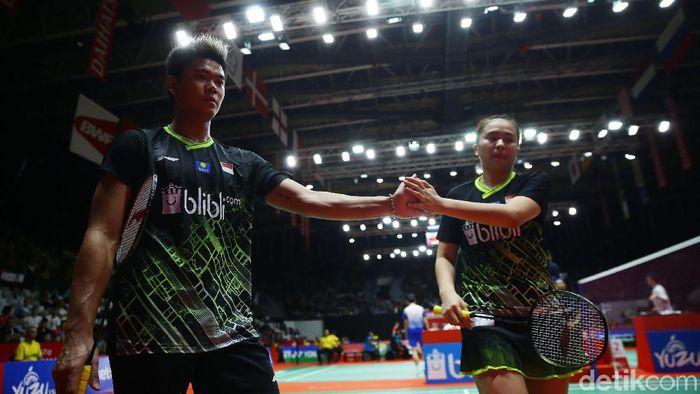 Praveen Jordan/Melati Daeva Oktavianti enggan meremehkan ganda Prancis, lawan di perempatfinal Indonesia Masters. (Foto: Grandyos Zafna)