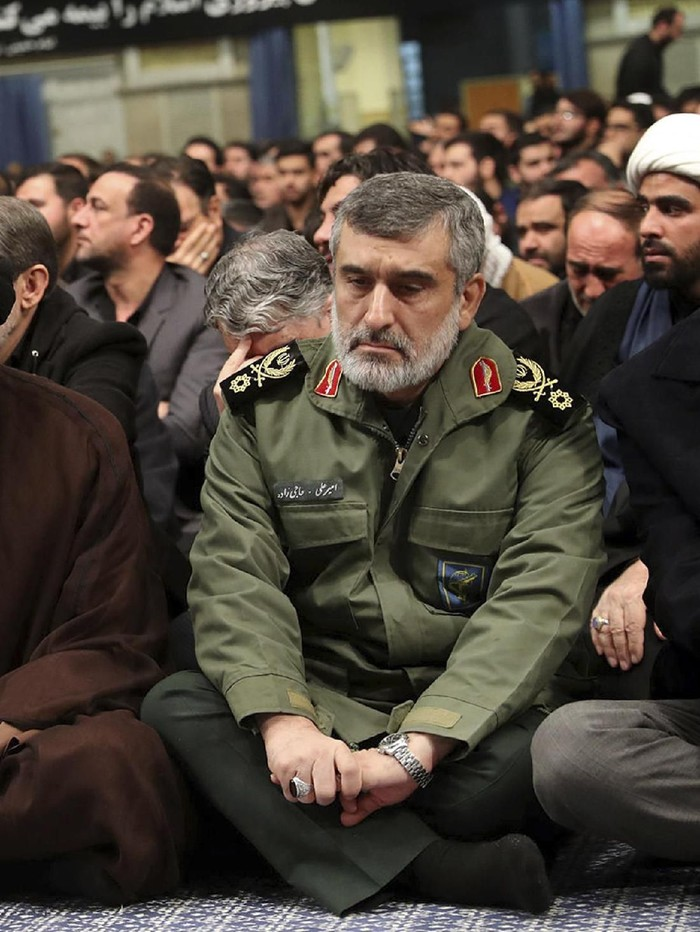 Brigadir Jenderal Amir Ali Hajizadeh (Office of the Iranian Supreme Leader via AP)