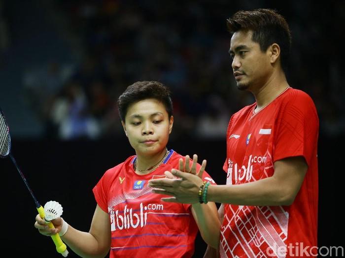 Tontowi/Apriyani kalah di babak 16 besar Indonesia Masters 2020.