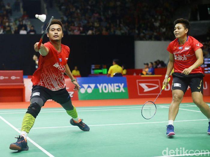 Tontowi/Apriyani kandas di babak 16 besar Indonesia Masters 2020.