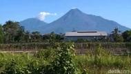 Penampakan Gunung Merapi yang Mempesona Siang Ini