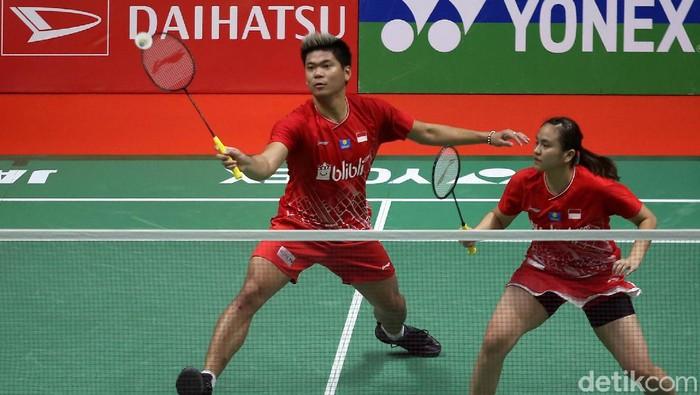 Ganda campuran Indonesia Praveen Jordan/Melati Daeva gagal melaju ke semifinal Indonesia Masters 2020. Praveen/Melati ditumbangkan wakil Prancis Thom/Delphine.
