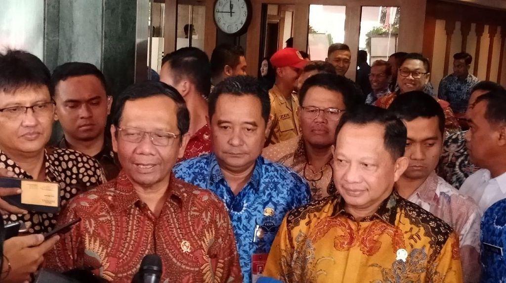 Usai Bertemu Tito, Mahfud Yakin Pilkada 2020 Berjalan Aman dan Lancar