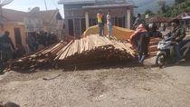 Polisi Amankan Truk Diduga Angkut Kayu Pembalakan Liar di Karo Sumut