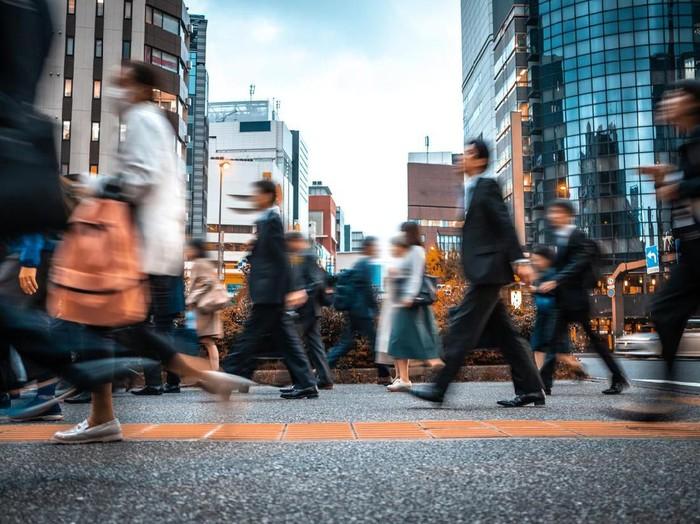 Ilustrasi pekerja Jepang