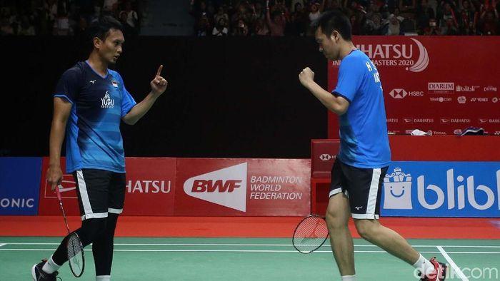 Ganda putra Indonesia Hendra Setiawan/Mohammad Ahsan melaju ke semifinal Indonesia Masters 2020. Mereka mengalahkan ganda terbaik Taiwan.