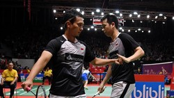 Hendra/Ahsan Kantongi Kemenangan Pertama di BWF Wolrd Tour Finals