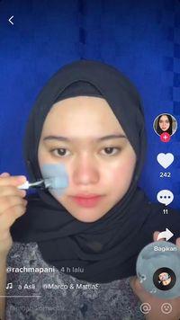 Rahma dapat cuan dari main TikTok tutorial makeup