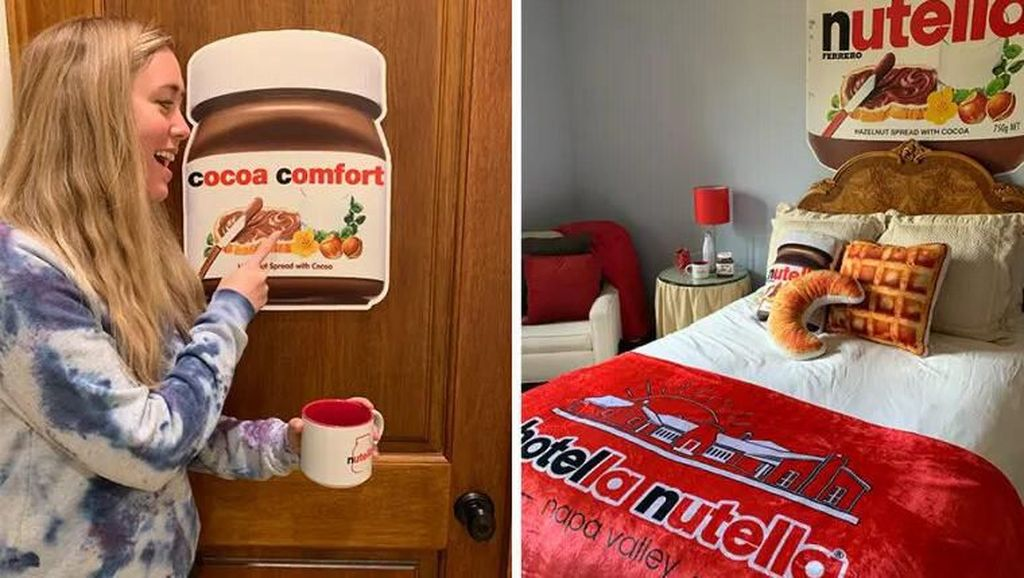 Asyik Banget! Penggemar Nutella Kini Bisa Menginap di Hotel Tema Nutella