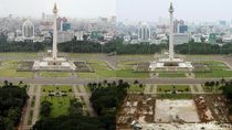 Before-After Revitalisasi Monas