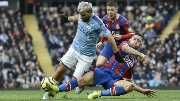 Manchester City ditahan imbang Crystal Palace.