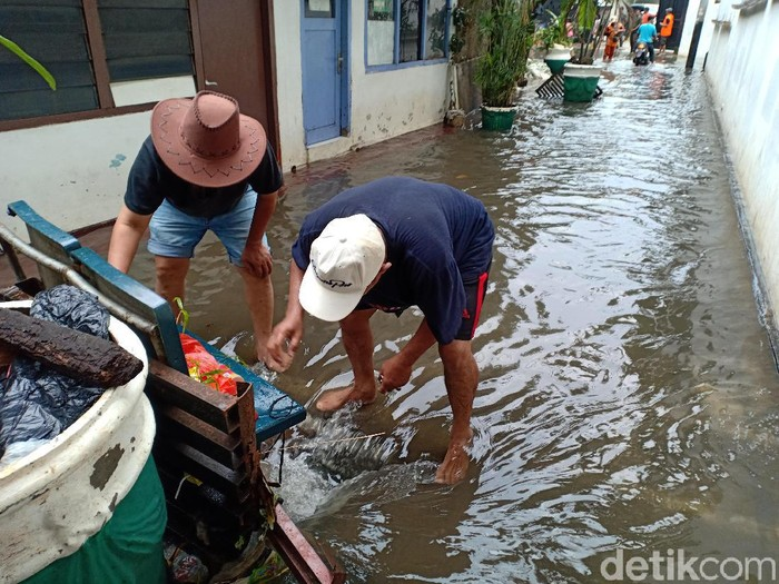 Tak Ada Pompa Air Ini Cara Petugas Bikin Banjir Di Kebayoran Baru Surut