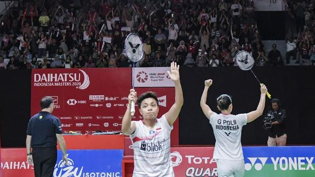 Greysia/Apriyani melaju ke final Indonesia Masters 2020. (