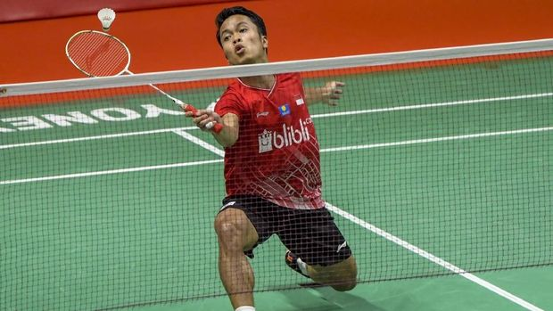 Anthony Ginting sukses ke final Indonesia Masters. (