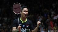 Hasil Undian Perempatfinal Tunggal Putra PBSI Home Tournament