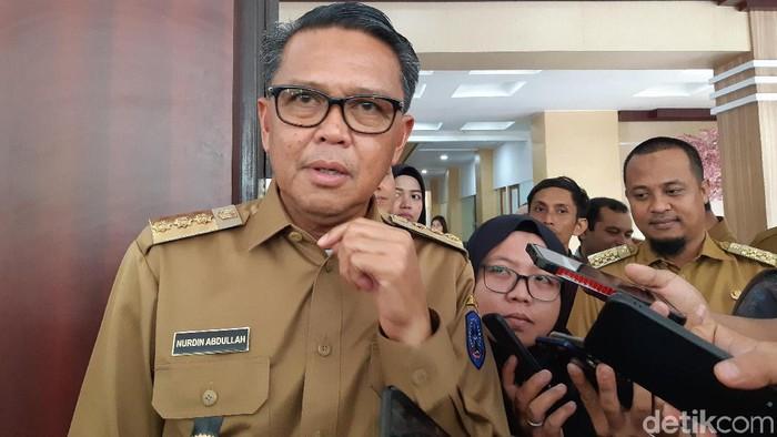 Noval Dhwinuari Antony-detikcom/ Gubernur Sulsel Nurdin Abdullah