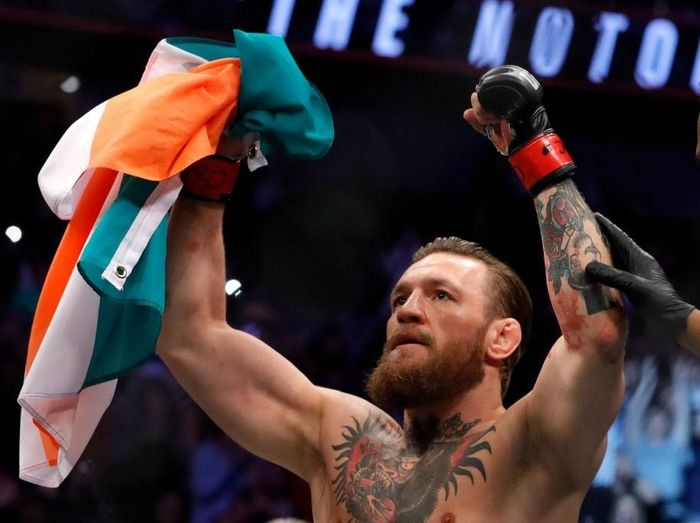 McGregor ditantang rematch oleh Mayweather. Foto: Steve Marcus/Getty Images