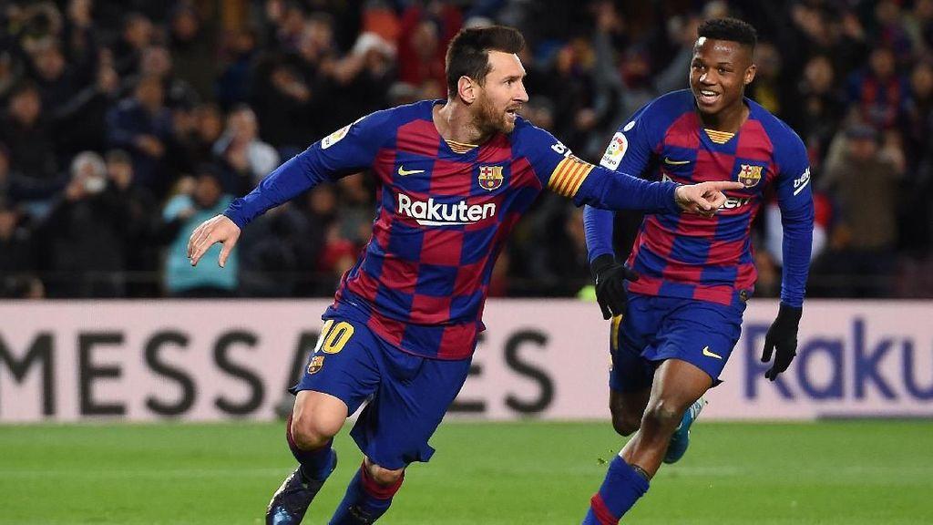 Messi Ukir Rekor Kemenangan Ke-500 Bersama Barcelona