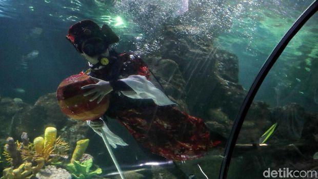Kisah Penyelam soal Tantangan Tampilkan Barongsai Dalam Air