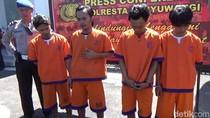 Polisi Banyuwangi Tangkap Komplotan Perampok yang Hobi Aniaya Korbannya