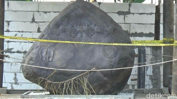 Salah satu properti Keraton Agung Sejagat yang kini disegel polisi (Rinto/detikcom)