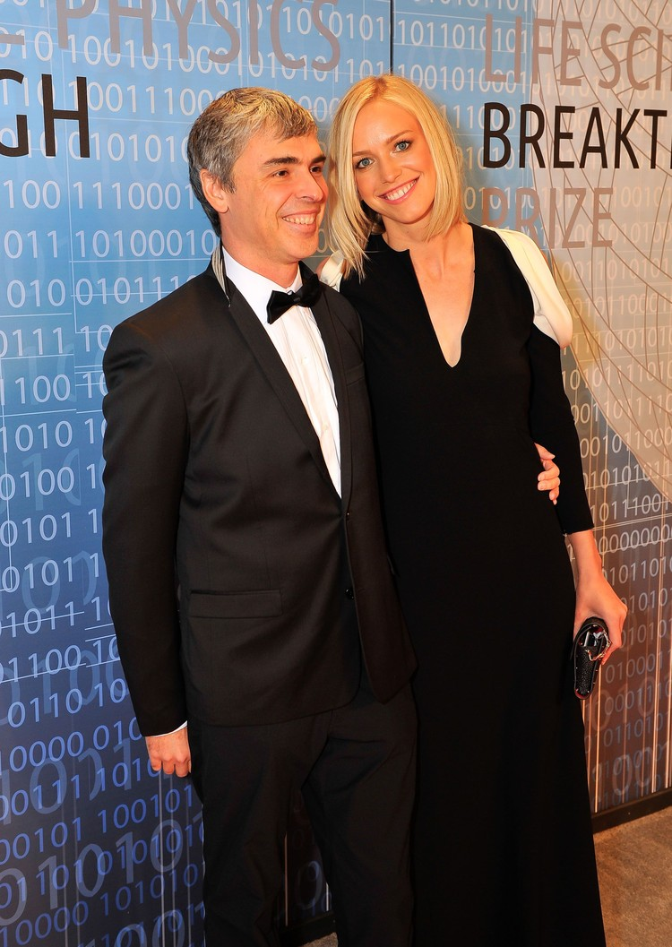 MOUNTAIN VIEW, CA - DECEMBER 12: (L-R) Larry Page and Lucy Southworth attend the 2014 Breakthrough Prize Inaugural Ceremony for Awards in Fundamental Physics and Life Sciences at NASA Ames Research Center on December 12, 2013 in Mountain View, California. (Photo by Steve Jennings/Getty Images for MerchantCantos)