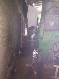 Genangan di Harapan Jaya Bekasi Pagi Ini