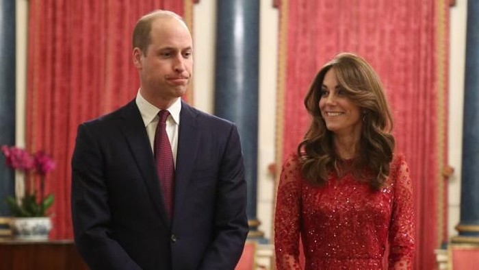 LONDON, ENGLAND - JANUARY 20: Prince William, Duke of Cambridge and Catherine, Duchess of Cambridge arrive at a reception to mark the UK-Africa Investment Summit at Buckingham Palace on January 20, 2020 in London, England. (Photo by Yui Mok - WPA Pool/Getty Images)