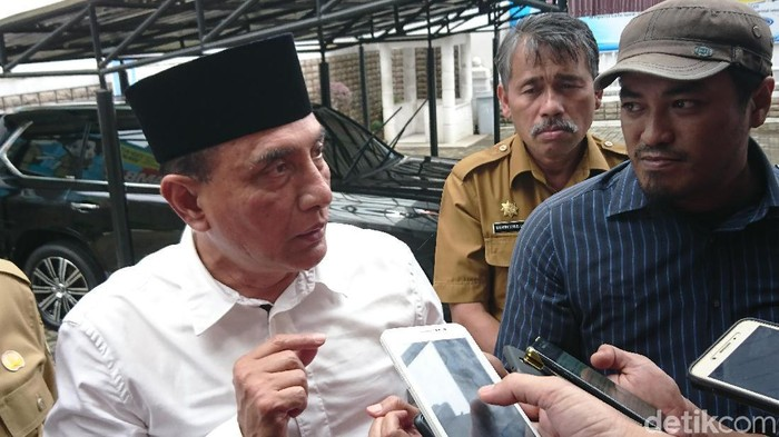 Ahmad Arfah Lubis-detikcom/ Gubernur Sumut Edy Rahmayadi