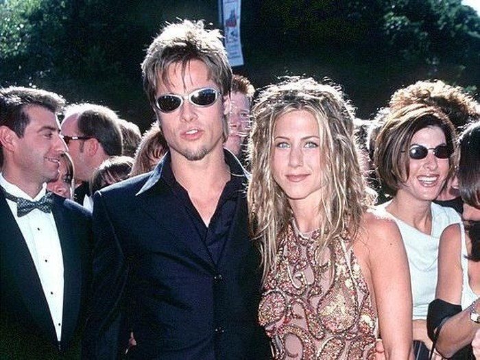 371747 01: Brad Pitt & Jennifer Aniston attending the Los Angeles Premiere of the new movie