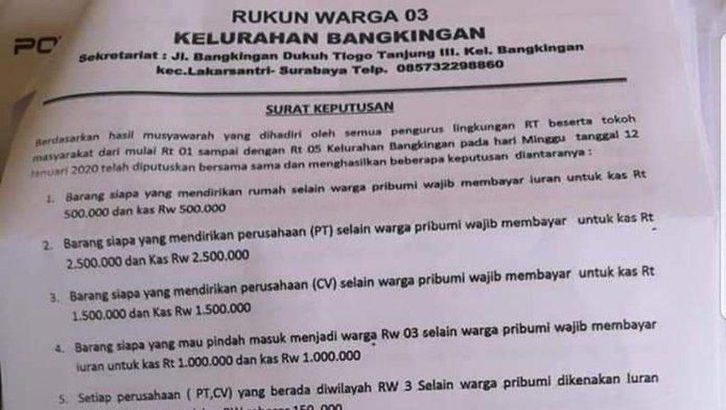 Saat Sebuah Surat Edaran RW Gegerkan Warga Surabaya