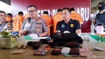 6 Pengedar Narkoba di Pekanbaru Ditangkap, Sabu 4 Kg Disita