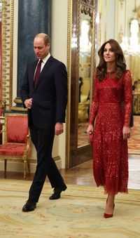 Pangeran William dan Kate Middleton saat menghadiri resepsi formal di Istana Buckingham