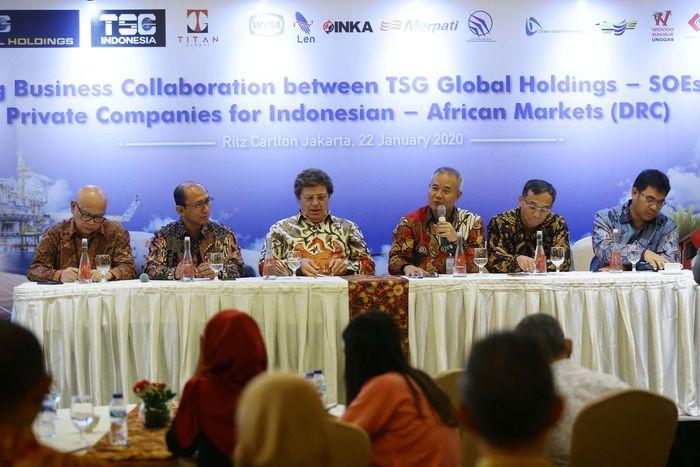 Perusahaan-perusahaan tersebut, yakni PT Wijaya Karya (Persero) Tbk. (WIKA), PT Industri Kereta Api/INKA (Persero), PT Len Industri (Persero), PT Dirgantara Indonesia (Persero), PT Merpati Nusantara Airlines (Persero), PT Naga Putih Nusantara (NPN) dan PT Nabati Agro Sumatera (NAS), PT Widodo Makmur Unggas (WMU), PT LMP Property & Construction dan PT Aero Bahteranusa Palapa (ABP).