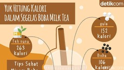 Biang Kalori dalam Segelas Boba Milk Tea