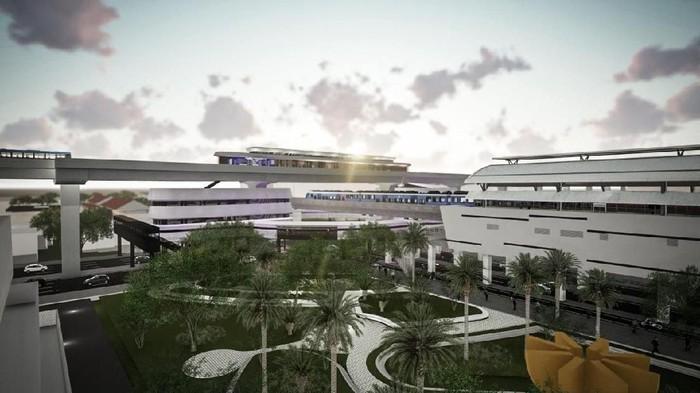 Desain integrasi Stasiun MRT ASEAN-Halte TransJ CSW (Dok. Pemprov DKI)